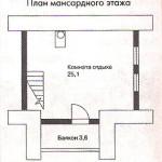 Сруб бани 62,1 м2
