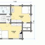 Сруб дома 102 м2 план второго этажа