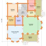 Сруб дома 242 м2 план первого этажа