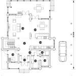 Сруб дома 316 м2 план первого этажа