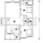 Сруб дома 316 м2 план второго этажа