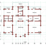 Сруб дома 420 м2 план второго этажа