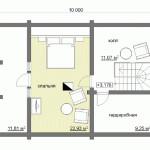 Сруб дома 113 м2 план второго этажа