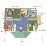 Сруб дома 175 м2 план второго этажа
