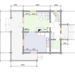 Проект сруба дома 240 м2 - первый этаж