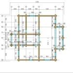 проект сруба дома 233 м2 - первый этаж