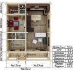 проект сруба дома 223 м2 - первый этаж