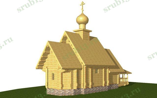 Сруб церкви 1