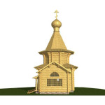Сруб церкви 2