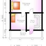 проект сруба дома 115 м2 - второй этаж