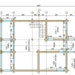 проект сруба дома 150 м2 - первый этаж
