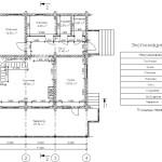 проект сруба дома 178 м2 первый этаж