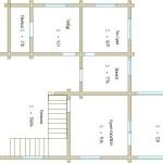 проект сруба дома 180 м2 первый этаж