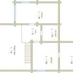 проект сруба дома 180 м2 второй этаж