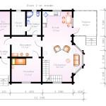 Проект сруба дома 186 м2 - план первого этажа
