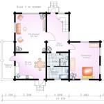 проект сруба дома 292 м2 - план первого этажа