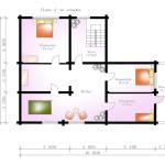 проект сруба дома 292 м2 - план второго этажа