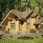 Дом из оцилиндрованного бревна 214 м2