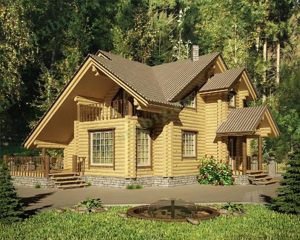 Дом из бревна 214 м2 — Сочи