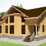 Дом из оцилиндрованного бревна 305 м2