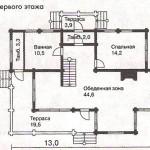 Сруб дома 148,1 м2
