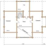 Сруб дома 250 м2 план второго этажа