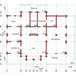 Сруб дома 420 м2 план первого этажа