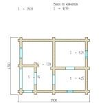 план сруба бани 18 м2