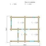 проект первого этажа двухэтажной бани 91 м2