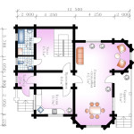 Сруб дома 157 м2 план первого этажа