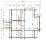 проект сруба дома 233 м2 - второй этаж