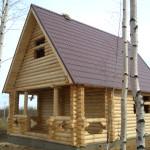 Дом из оцилиндрованного бревна 70 м2