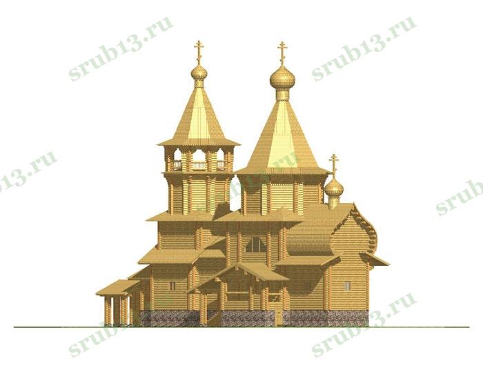 Сруб церкви 3