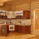 Сруб дома 186 м2 - кухня